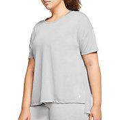 Nike Women's Plus Size Dri-FIT Short Sleeve Yoga Training Top
