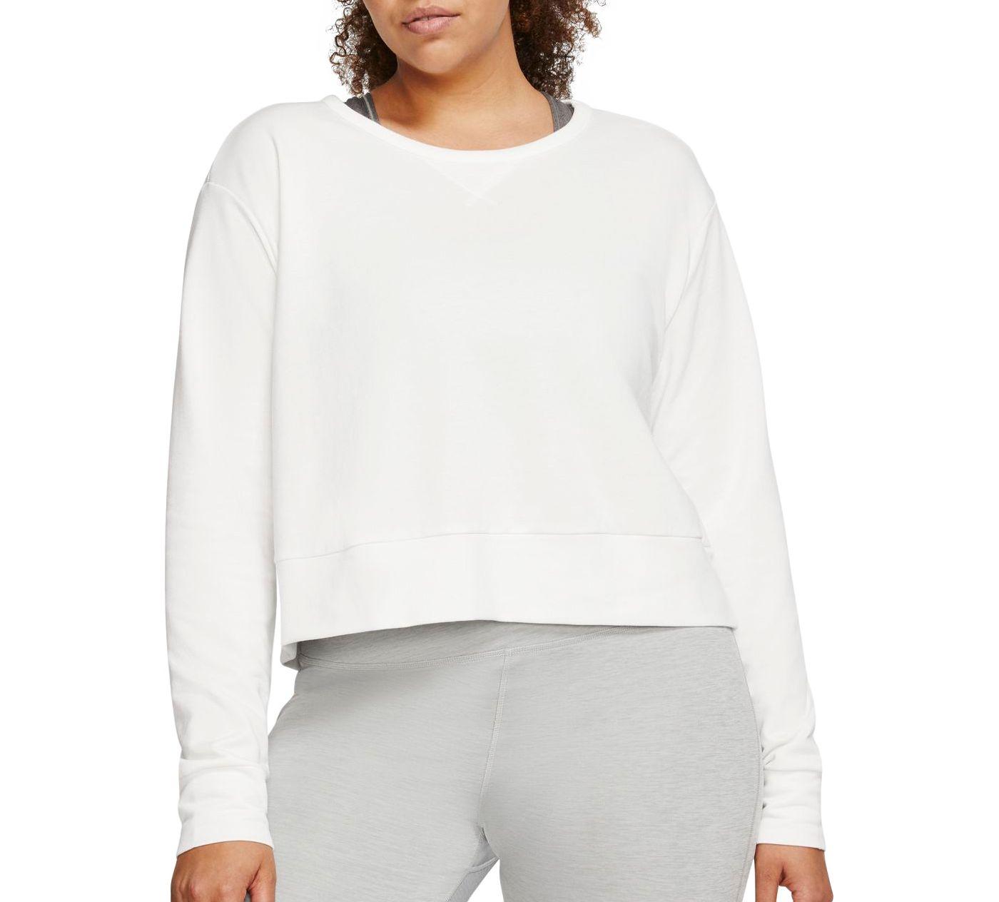 Nike Women's Plus Size Yoga Long Sleeve Open Back Training Top