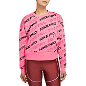 Nike Women's Pro Crewneck Fleece Sweatshirt