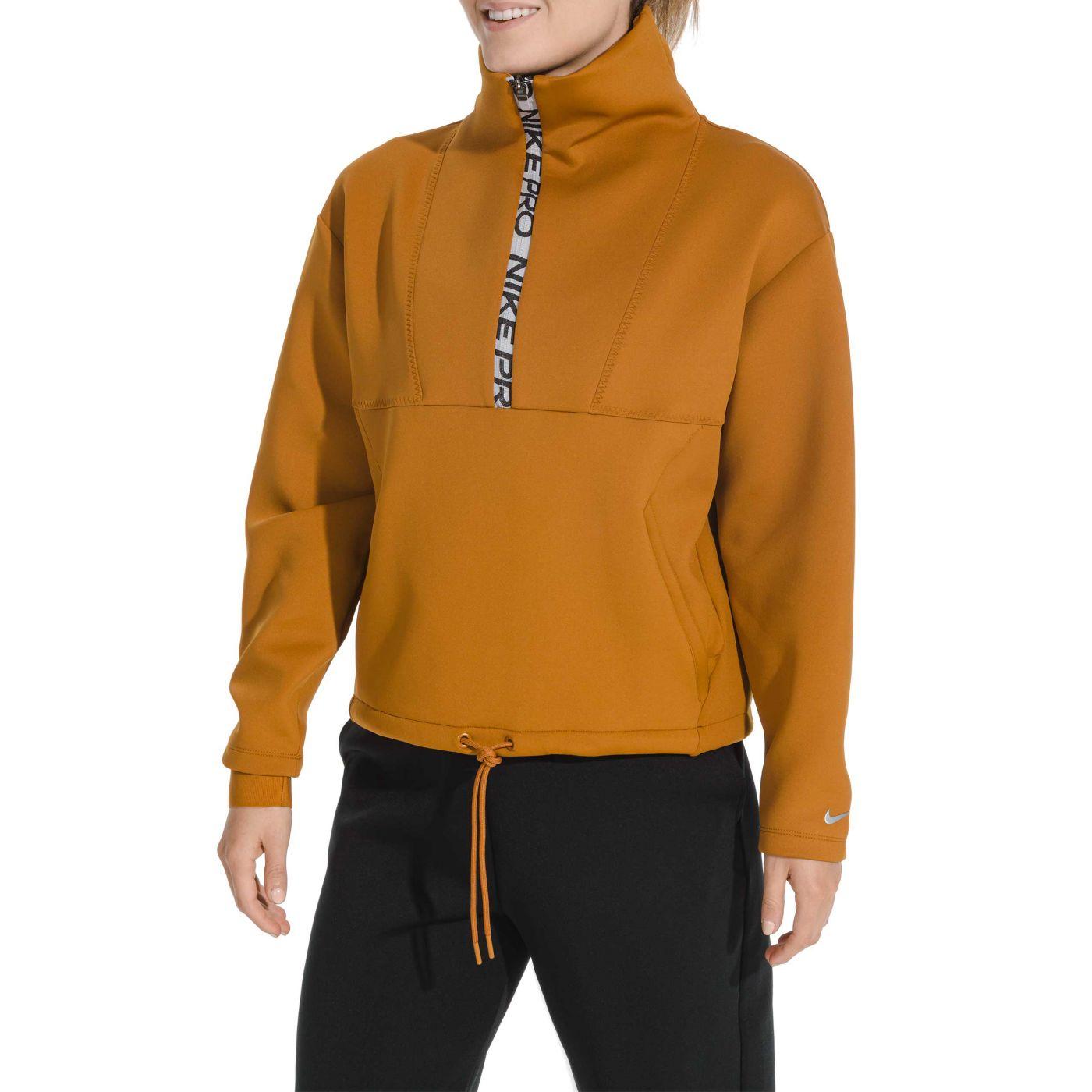 Nike Pro Women's Fleece Cropped Pullover