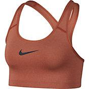 Nike Women's PRO Swoosh Sports Bra in Dusty Peach/Pure
