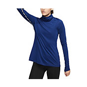 Nike Women's Pro Warm Metallic Funnel Neck Long Sleeve Shirt