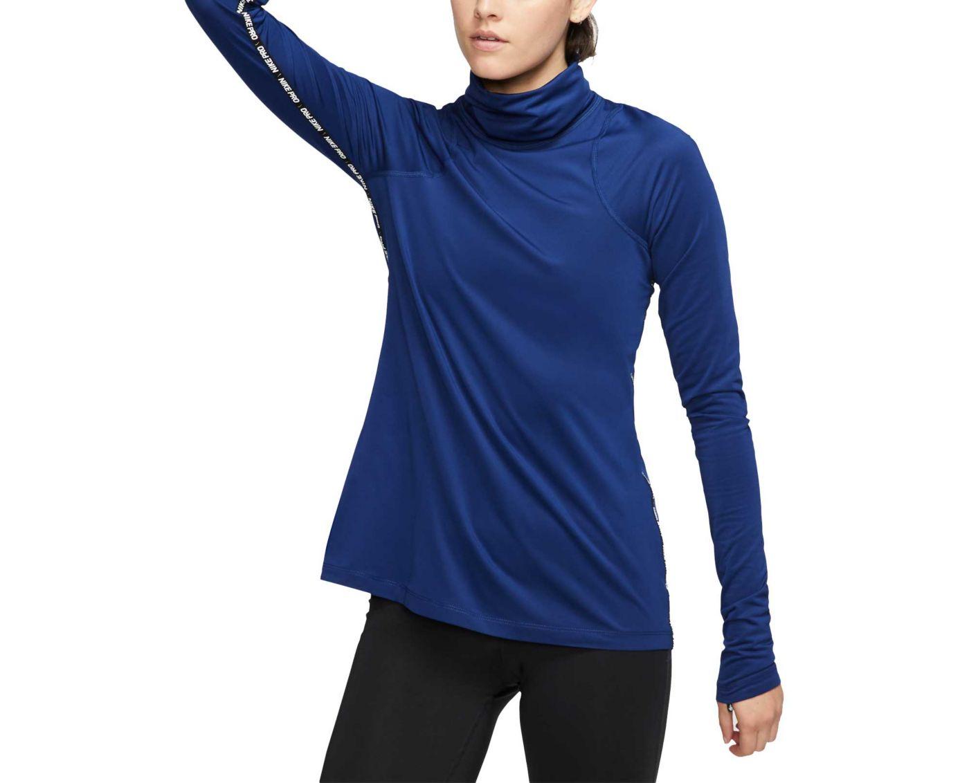 Nike Pro Warm Women's Metallic Long Sleeve Top