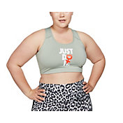 Nike Women's Plus Size Rebel Swoosh Medium Support Sports Bra