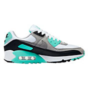 Nike Women's Air Max 90 Shoes in White/Hyper Turq
