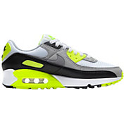 Nike Women's Air Max 90 Shoes in White/Volt/Black