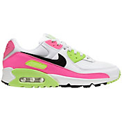Nike Women's Air Max 90 Shoes in Wht/Blk/Pnk Blst/GhostGrn