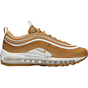 Nike Women's Air Max 97 Shoes in Gold/White
