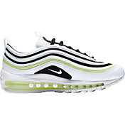 Nike Women's Air Max 97 Shoes in White/Black/Green