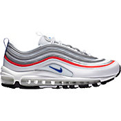 Nike Women's Air Max 97 Shoes in Wht/Rcer Blu/Flash Crmsn