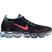 Nike Women's Air VaporMax Flyknit 3 Shoes in Blk/Hyper Pnk/Baltic Blue