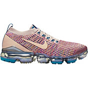 Nike Women's Air VaporMax Flyknit 3 Shoes in Mauve/Navy/Violet