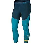 Nike Women's Surf Sport Graphic Crop Leggings in Nightshade