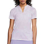 Nike Women's Dri-FIT Victory Printed Short Sleeve Golf Polo