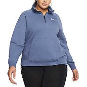 Nike Women's Plus Size Sportswear Essential 1/4 Zip Fleece Top