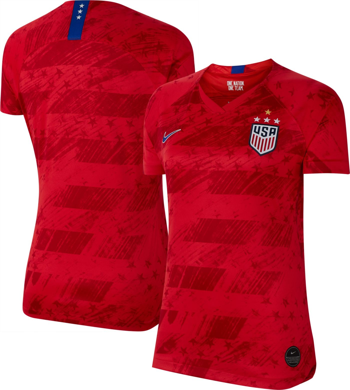 Nike Women's 2019 FIFA Women's World Cup USA Soccer 4-Star Breathe Stadium Away Replica Jersey