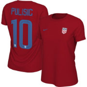 Nike Women's USA Soccer Christian Pulisic #10 Red Player T-Shirt