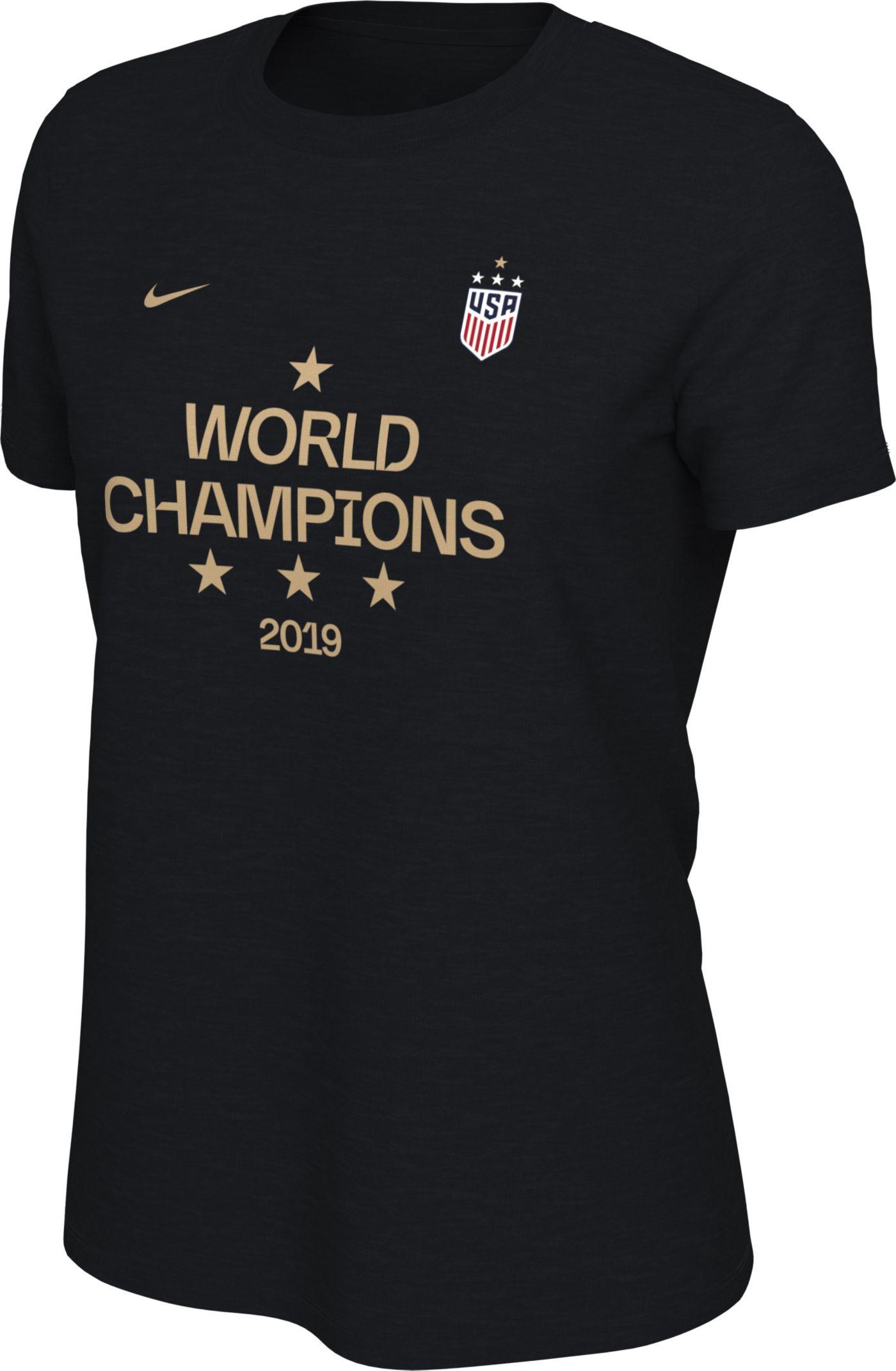 Nike Women's 2019 FIFA Women's World Cup Champions USA Soccer Black T-Shirt
