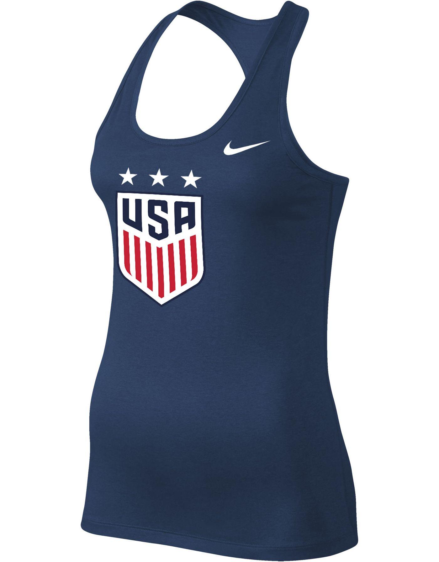 Nike Women's 2019 FIFA Women's World Cup USA Soccer Logo Navy Racerback Tank