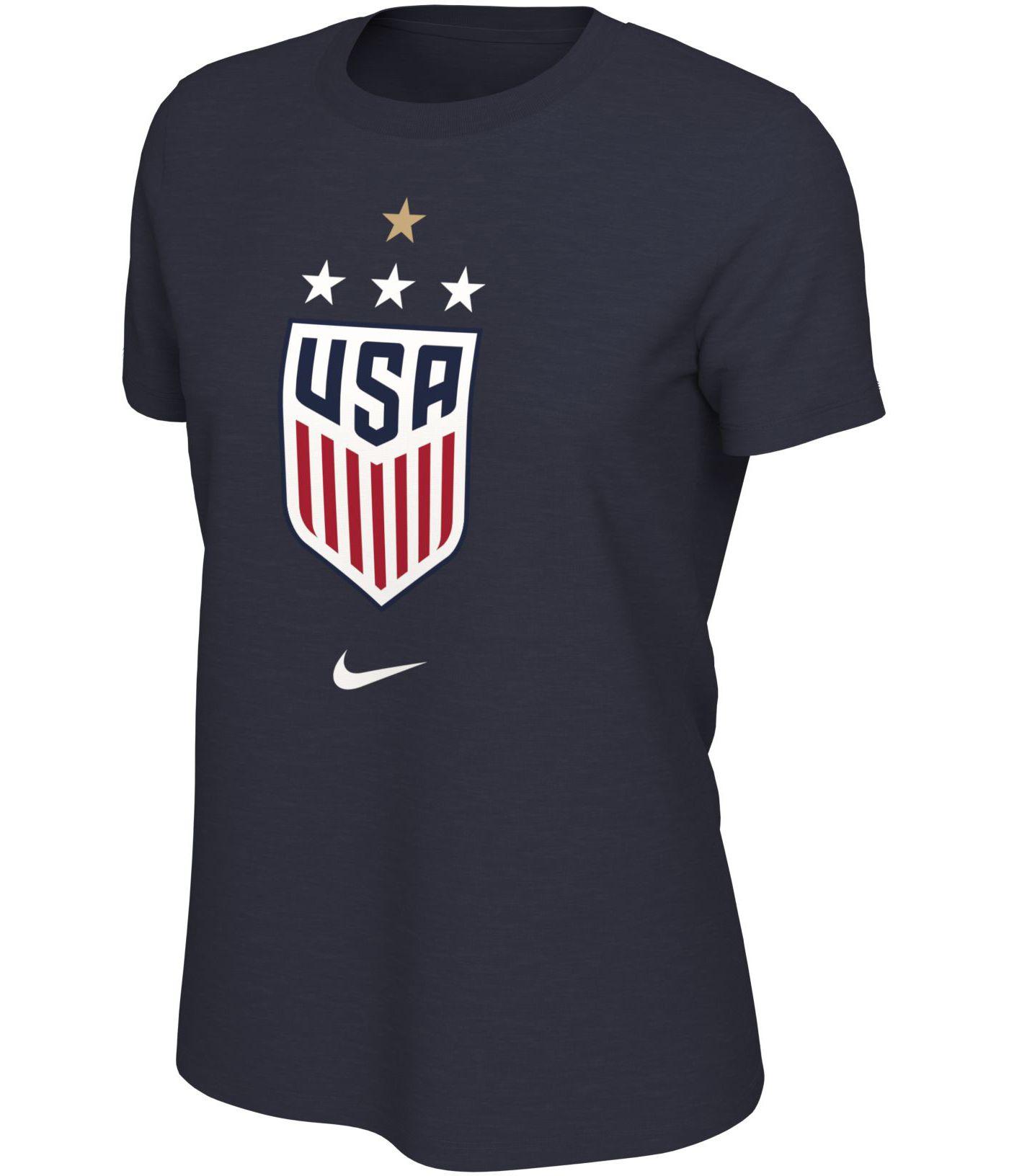 Nike Women's 2019 FIFA Women's World Cup Champions USA Soccer 4-Star Navy T-Shirt