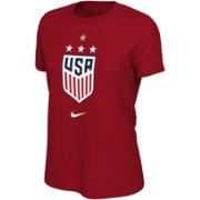 bab5a4c09c64 Nike Women's 2019 FIFA Women's World Cup Champions USA Soccer 4-Star Red T-