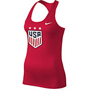 Nike Women's 2019 FIFA Women's World Cup USA Soccer Logo Red Racerback Tank