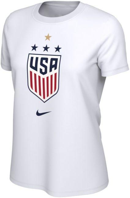 Nike Women's USA Soccer 4 Star One Nation One Team White T Shirt