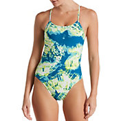 Nike Women's Solar Canopy Cut-Out One Piece Swimsuit
