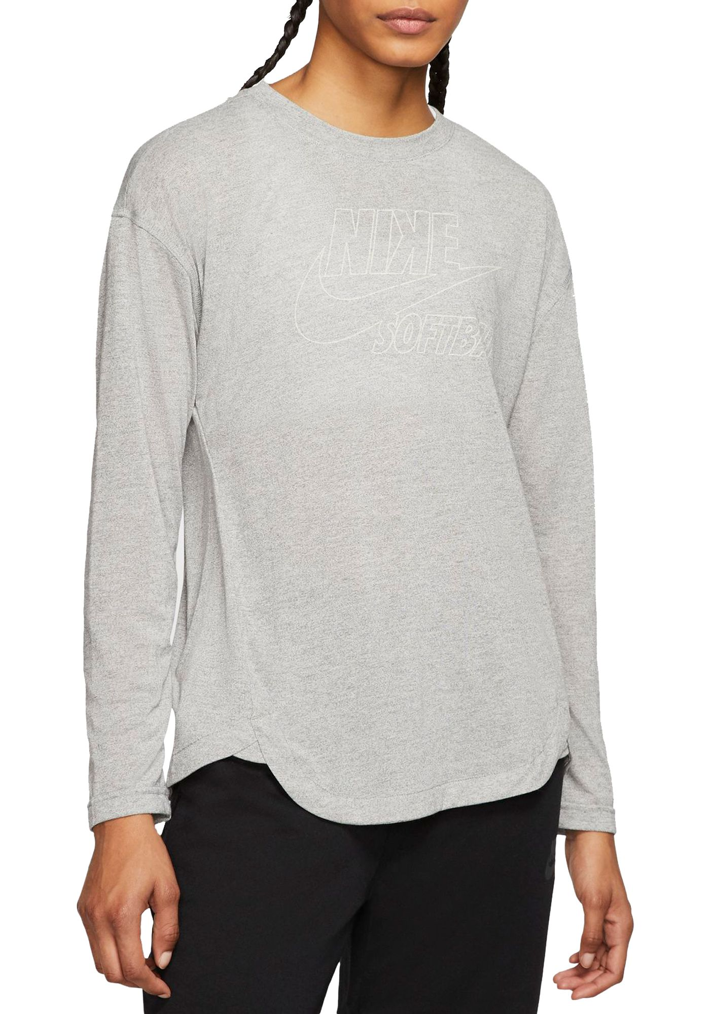 Nike Women's Breathe Long-Sleeve Softball Top