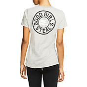 "Nike Women's ""GOOD GIRLS STEAL"" Dri-FIT Cotton Softball T-Shirt"