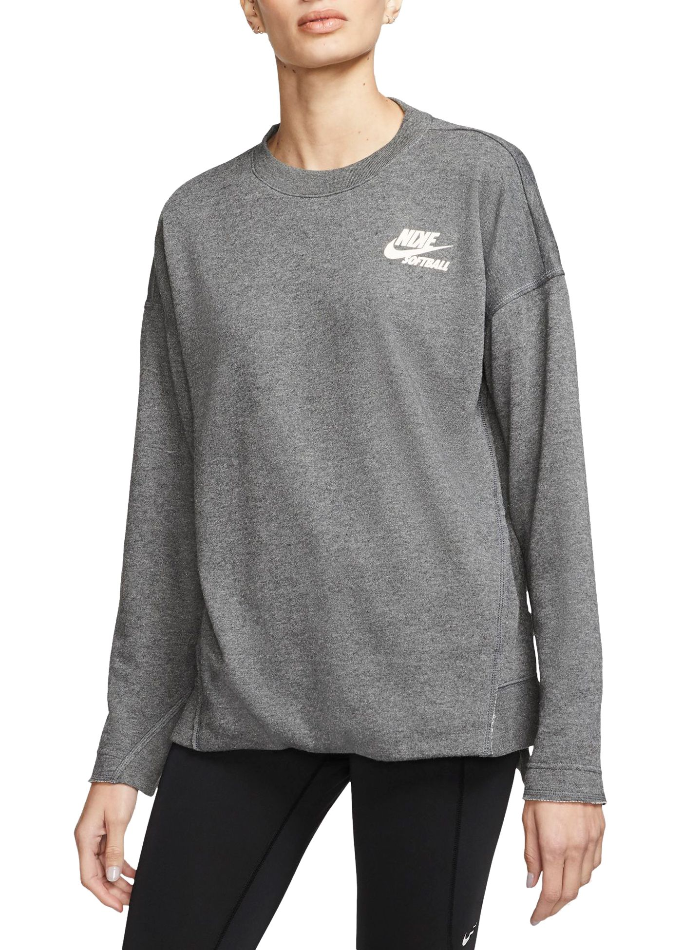 Nike Women's Long-Sleeve Softball Crew Shirt