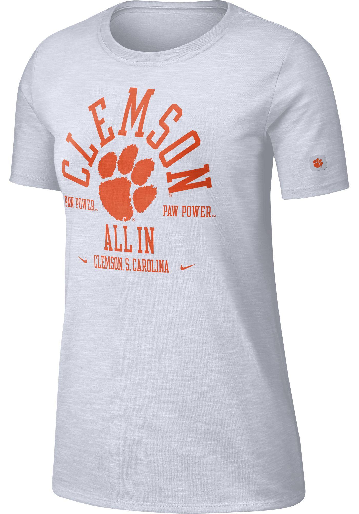 Nike Women's Clemson Tigers Dri-FIT Slub White T-Shirt