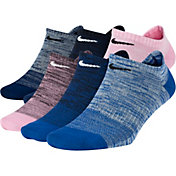 Nike Women's Everyday Lightweight No Show Multicolor Socks - 6 Pack