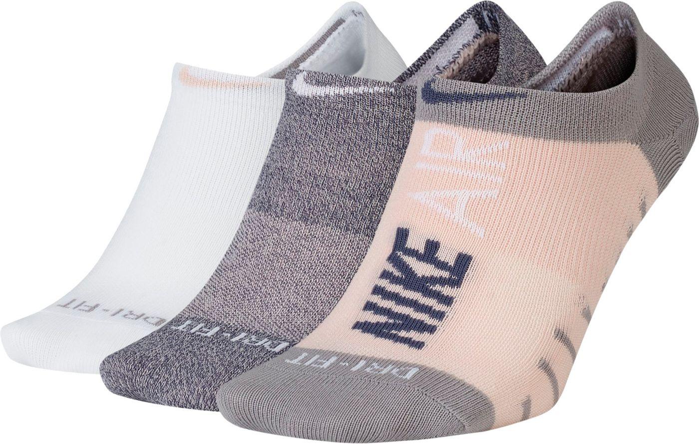 Nike Women's Everyday Max Lightweight No-Show Training Socks 3-Pack