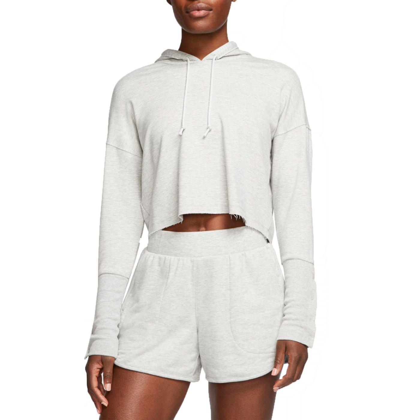 Nike Women's Cropped Luxe Yoga Training Hoodie