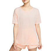 Nike Women's Dri-FIT Short Sleeve Yoga Training Top