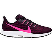Nike Women's Air Zoom Pegasus 36 Running Shoes in Black/Pink
