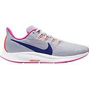 Nike Women's Air Zoom Pegasus 36 Running Shoes in Grey/Purple