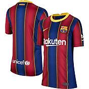 Nike Youth FC Barcelona '20 Breathe Stadium Home Replica Jersey