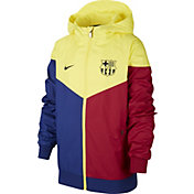 Nike Youth FC Barcelona Windrunner Royal/Red/Yellow Full-Zip Jacket