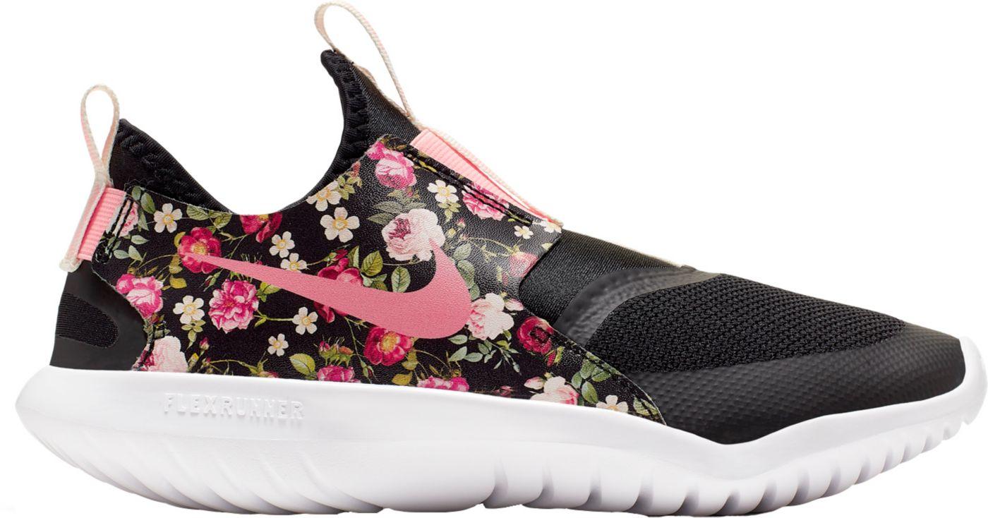 Nike Kids' Grade School Flex Runner VIntage Floral Running Shoes