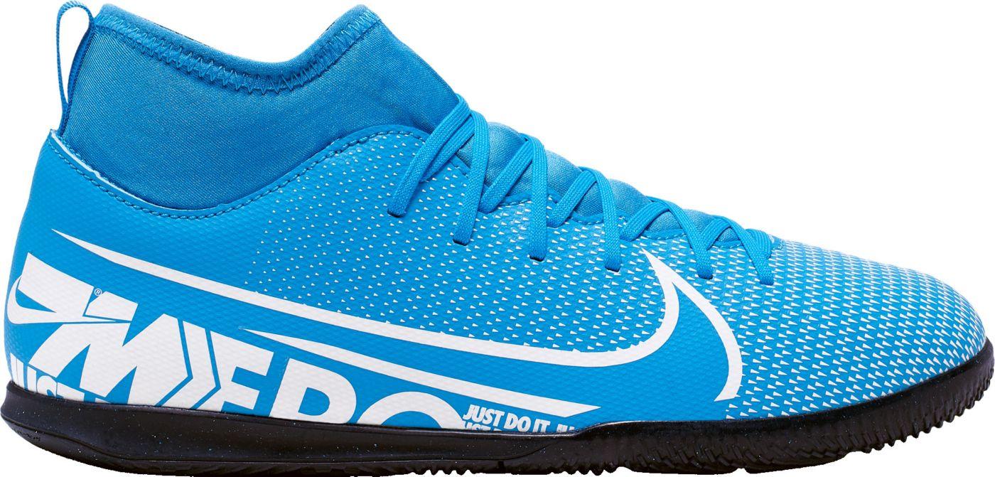 Nike Kids' Mercurial Superfly 7 Club Indoor Soccer Shoes