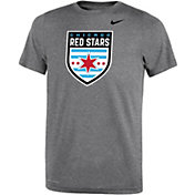 Nike Youth Chicago Red Stars Primary Logo Grey T-Shirt
