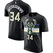 Nike Youth Milwaukee Bucks Giannis Antetokounmpo #34 Dri-FIT Statement Black T-Shirt