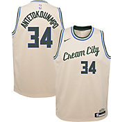 Nike Youth Milwaukee Bucks Giannis Antetokounmpo Dri-FIT City Edition Swingman Jersey