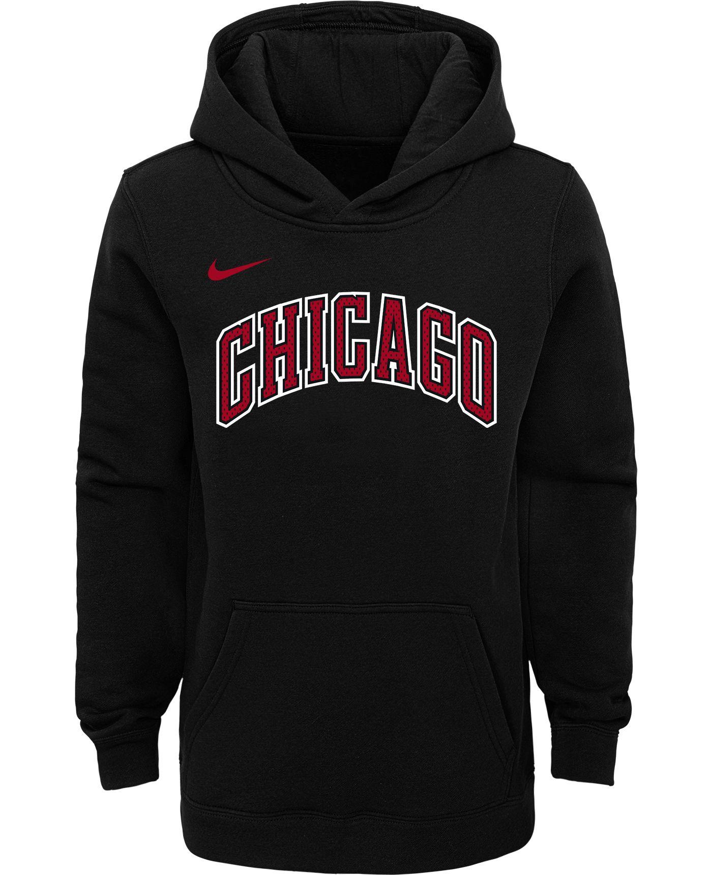 Nike Youth Chicago Bulls Black Statement Hoodie