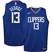 Nike Youth Los Angeles Clippers Paul George #13 Royal Dri-FIT Icon Jersey
