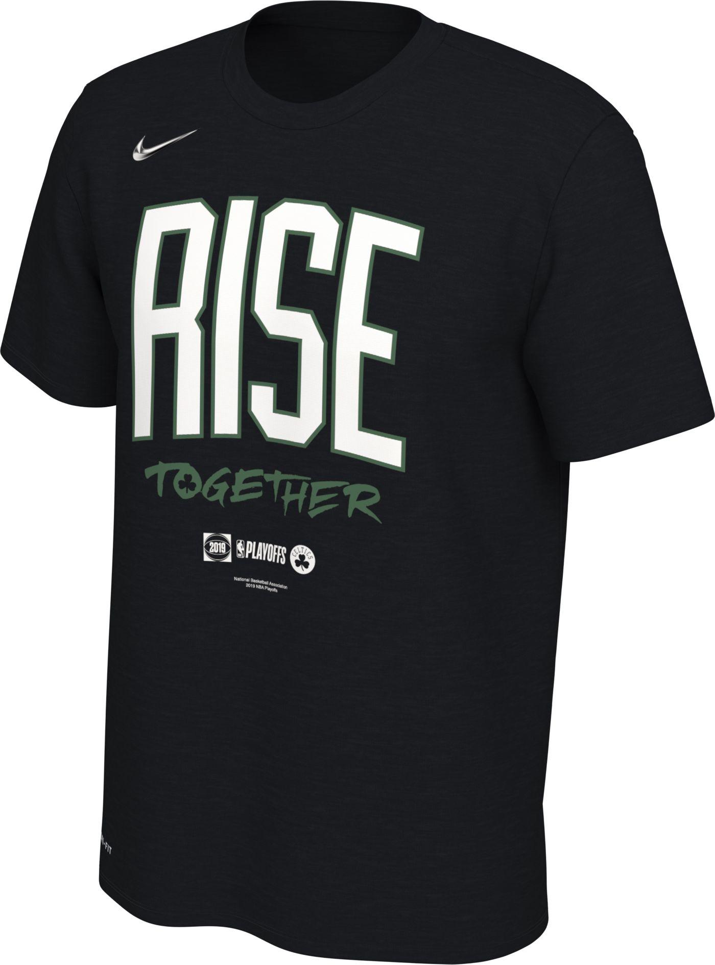 "Nike Youth Boston Celtics 2019 Playoffs ""Rise Together"" Dri-FIT T-Shirt"
