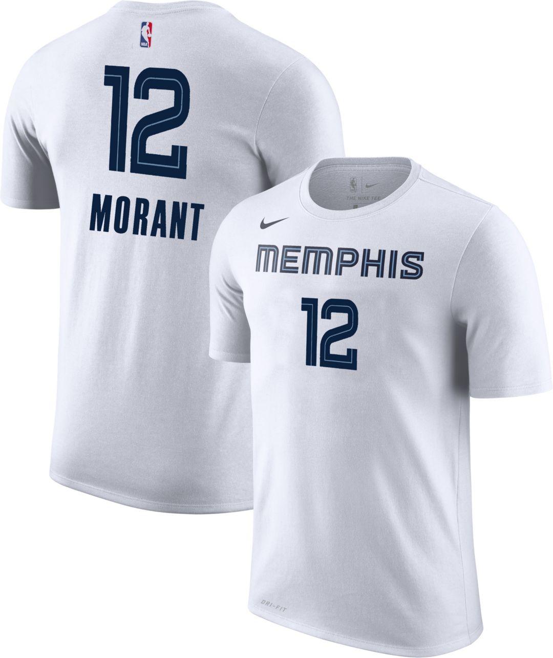 the latest 12c06 e51d3 Nike Youth Memphis Grizzlies Ja Morant #12 Dri-FIT White T-Shirt