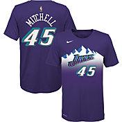 Nike Youth Utah Jazz Donovan Mitchell #45 Dri-FIT Hardwood Classic T-Shirt